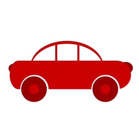 Car symbol sign on white background. Vector illustration.