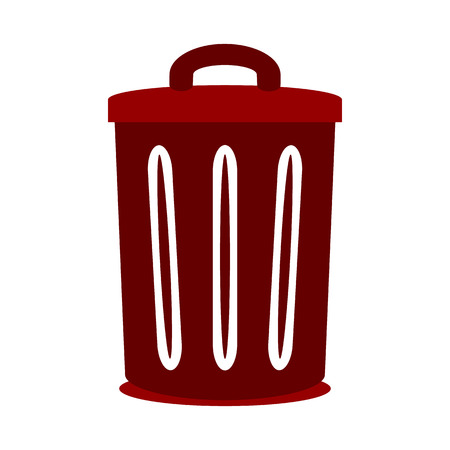 compost: Garbage symbol icon on white background. Vector illustration. Illustration