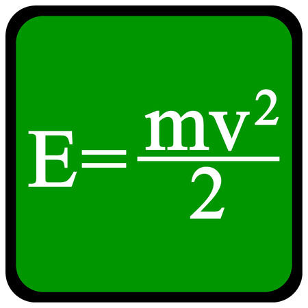 Formula on a green school board. Vector illustration. Illustration