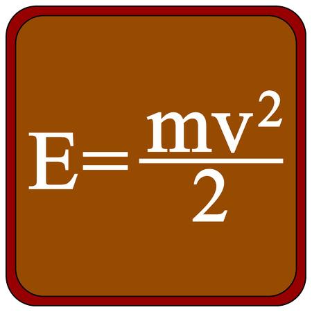 equalization: Formula on a brown school board. Vector illustration. Illustration