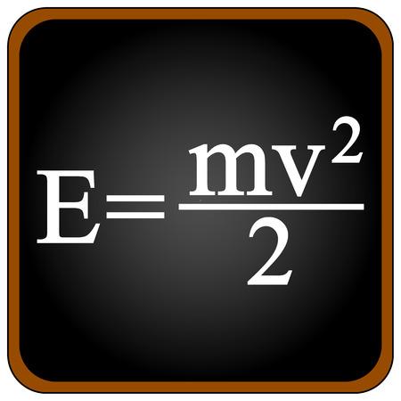 equalization: Formula on a black school board. Vector illustration. Illustration