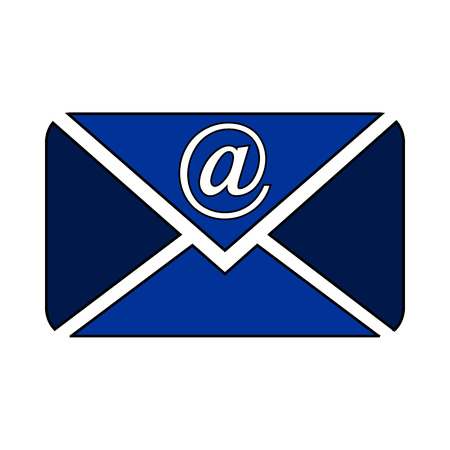 sent: Mail button on white background. Vector illustration.