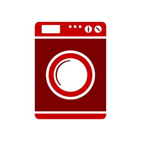 launder: Washing machine symbol sign on white background. Vector illustration. Illustration