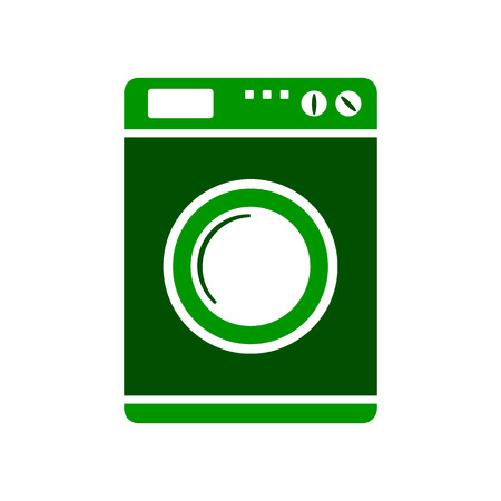 consumer society: Washing machine symbol sign on white background. Vector illustration. Illustration