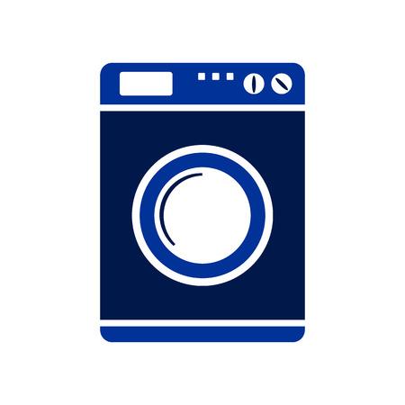rinse: Washing machine symbol sign on white background. Vector illustration. Illustration