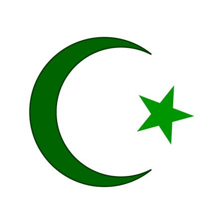 Islamic Religion Moon Star Icon Sign Symbol Royalty Free Cliparts