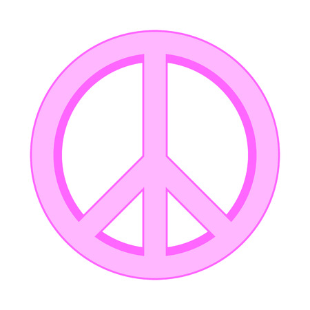 pacifist: Peace symbol sign on white background. Vector illustration.