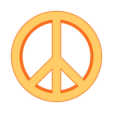 disarmament: Peace symbol sign on white background. Vector illustration.