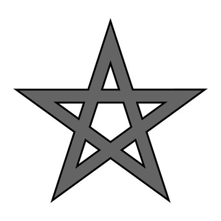 occultism: Pentagram symbol icon on white background. Vector illustration.
