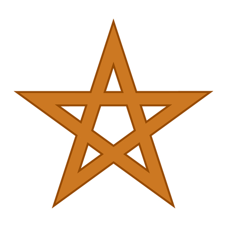 satanic: Pentagram symbol icon on white background. Vector illustration.