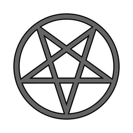 Pentagram symbol icon on white background. Vector illustration.