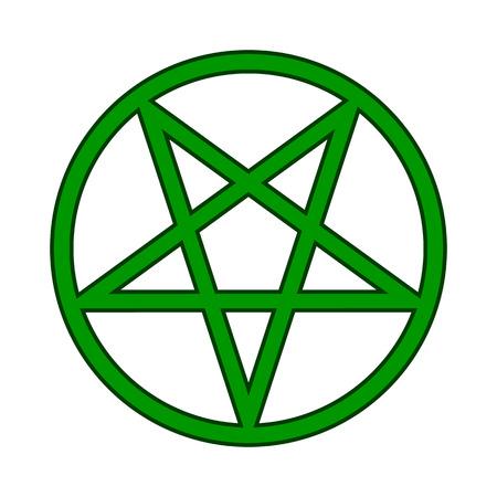 pentacle: Pentagram symbol icon on white background. Vector illustration.