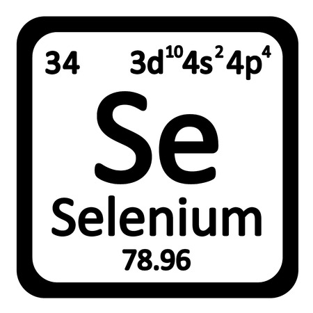 Elemento de la tabla peridica icono de boro en el fondo blanco elemento de la tabla peridica icono de selenio en el fondo blanco ilustracin del vector urtaz Gallery