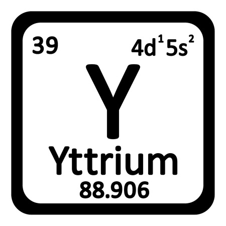 primordial: Periodic table element yttrium icon on white background. Vector illustration. Illustration