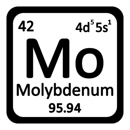 primordial: Periodic table element molybdenum icon on white background. Vector illustration. Illustration