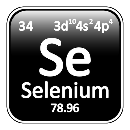 selenium: Periodic table element selenium icon on white background. Vector illustration.