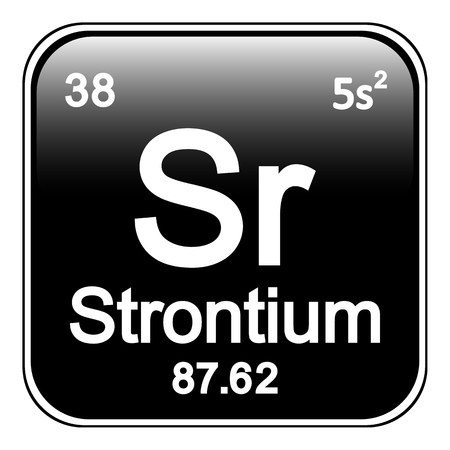 periodic table: Periodic table element strontium icon on white background. Vector illustration. Illustration