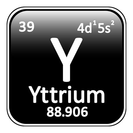 periodic table: Periodic table element yttrium icon on white background. Vector illustration. Illustration