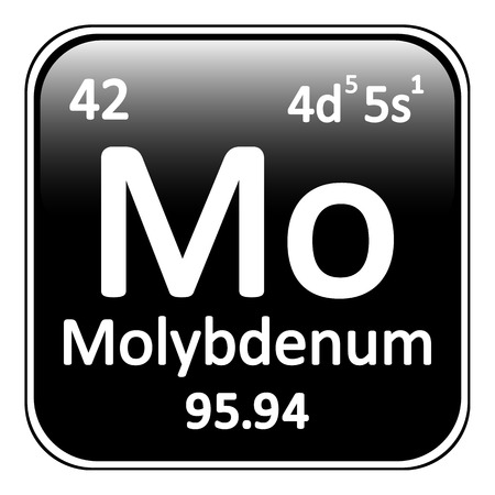 periodic table: Periodic table element molybdenum icon on white background. Vector illustration. Illustration