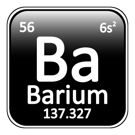 alkali metal: Periodic table element barium icon on white background. Vector illustration. Illustration