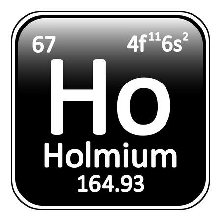 periodic table: Periodic table element holmium icon on white background. Vector illustration. Illustration