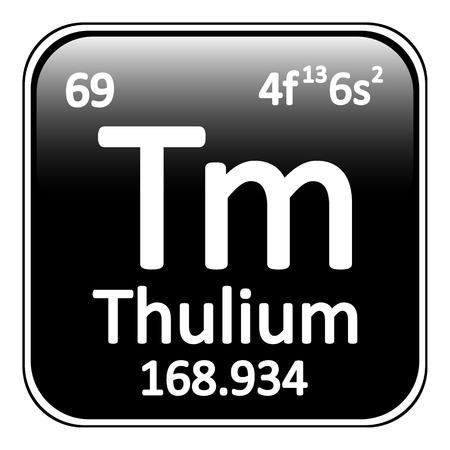 periodic table: Periodic table element thulium icon on white background. Vector illustration. Illustration