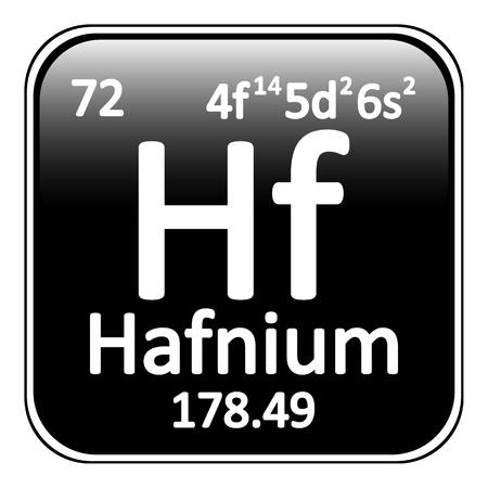 periodic table: Periodic table element hafnium icon on white background. Vector illustration. Illustration