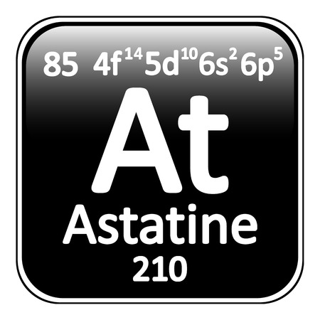 periodic table: Periodic table element astatine icon on white background. Vector illustration.