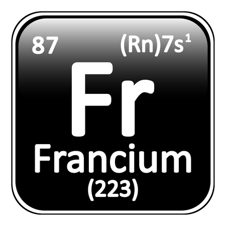 alkali metal: Periodic table element polonium icon on white background. Vector illustration. Illustration