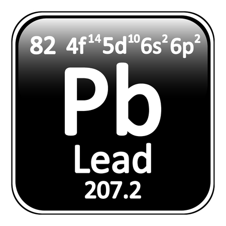 plumbum: Periodic table element lead icon on white background. Vector illustration. Illustration