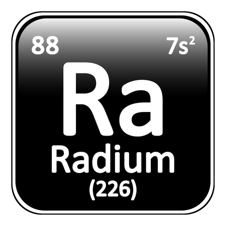 radium: Periodic table element radium icon on white background. Vector illustration. Illustration