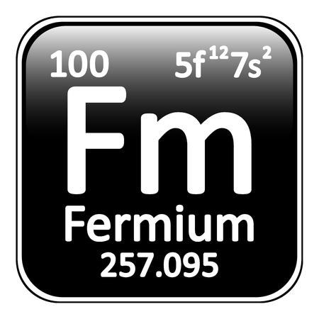 periodic table: Periodic table element fermium icon on white background. Vector illustration. Illustration
