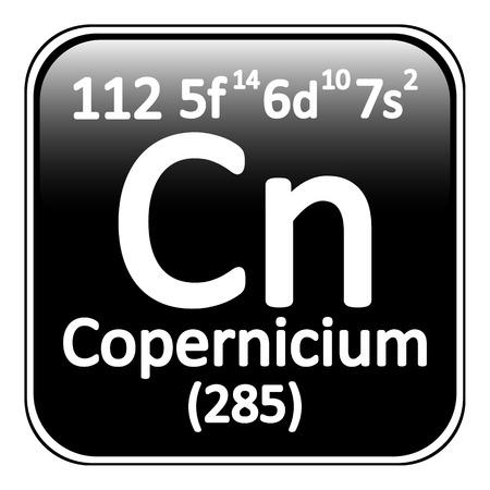 periodic table: Periodic table element copernicium icon on white background. Vector illustration.