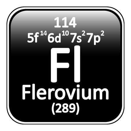 graphic flerovium: Periodic table element flerovium icon on white background. Vector illustration. Illustration