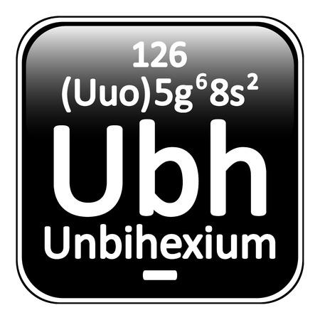 periodic table: Periodic table element unbihexium icon on white background. Vector illustration. Illustration