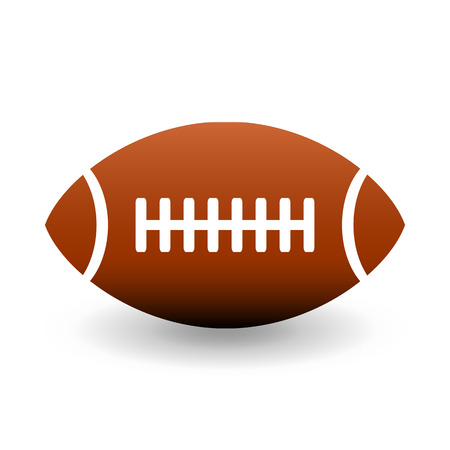 playoff: American football ball icon on white background. Illustration