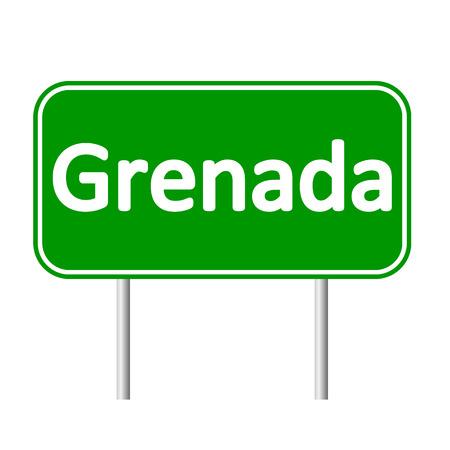 grenada: Grenada road sign isolated on white background.