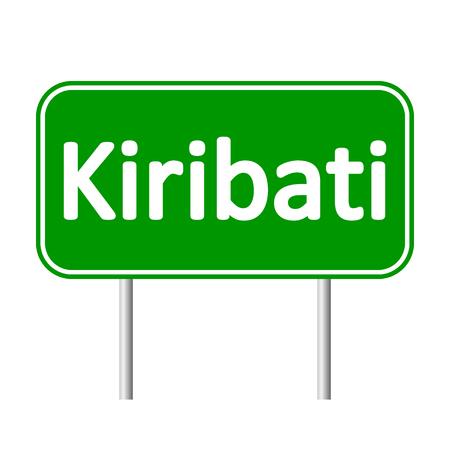 kiribati: Kiribati road sign isolated on white background.