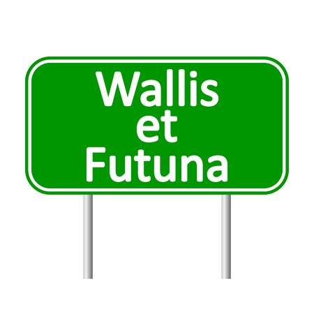 et: Wallis et Futuna road sign isolated on white background. Illustration