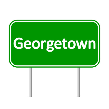 georgetown: Georgetown road sign isolated on white background. Illustration
