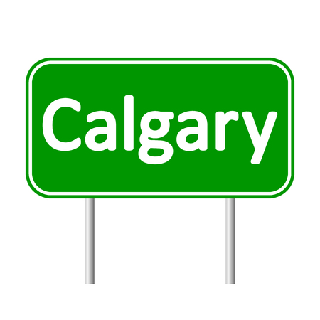 calgary: Calgary road sign isolated on white background.