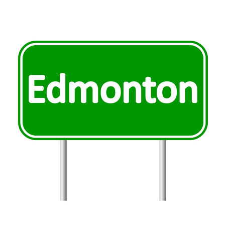 edmonton: Edmonton road sign isolated on white background.