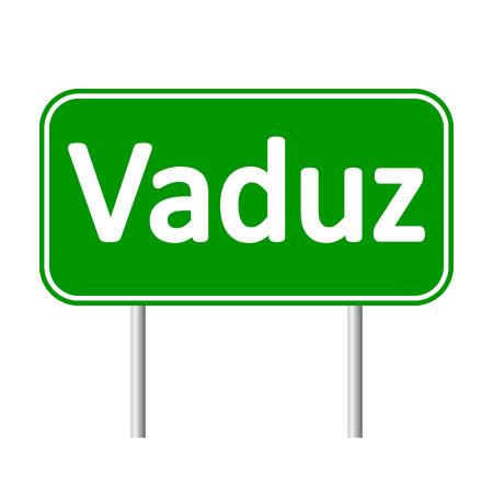 liechtenstein: Vaduz road sign isolated on white background.