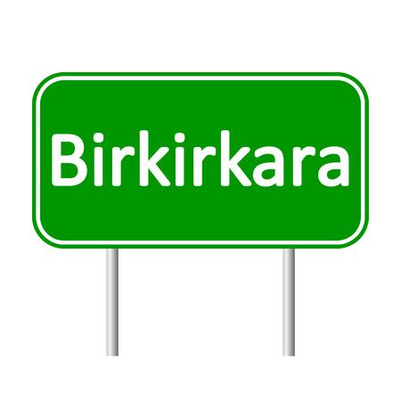 malta cities: Birkirkara road sign isolated on white background.