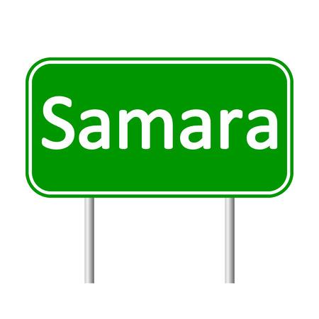 Samara road sign isolated on white background. Illustration