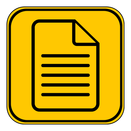Document icon on white background, Vector illustration.