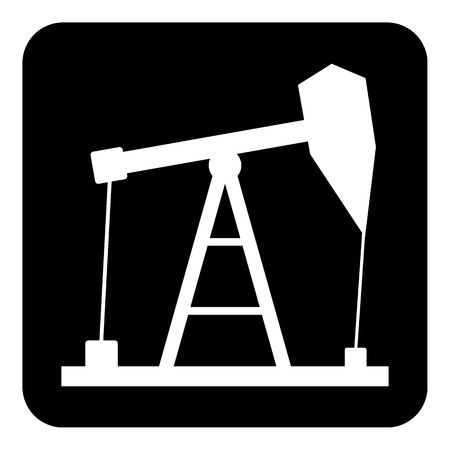 Oil pump icon on white background. Vector illustration.