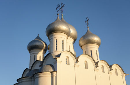 leningrad: Sophia Cathedral - Orthodox church at ssunsset, now a museum in Vologda, Russia. Erected in 1568 - 1570 years on the orders of Ivan the Terrible