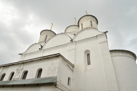spassky: Spassky Cathedral in Saviour Priluki Monastery by cloud day near Vologda, Russia. Editorial
