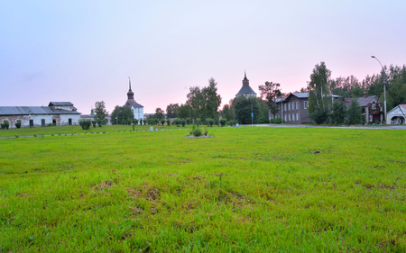 City of Kirillov in the Vologda region at evening, Russia. Standard-Bild
